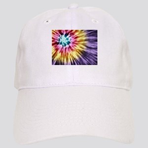 Abstract Purple Tie Dye Baseball Cap