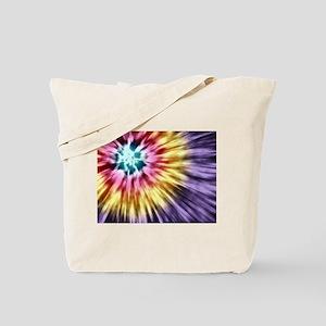 Abstract Purple Tie Dye Tote Bag