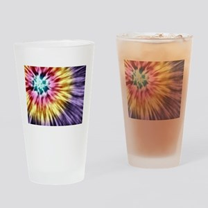 Abstract Purple Tie Dye Drinking Glass