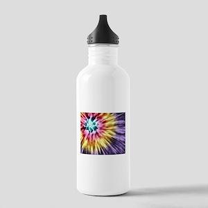 Abstract Purple Tie Dye Water Bottle