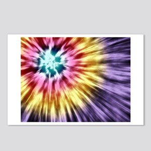 Abstract Purple Tie Dye Postcards (Package of 8)