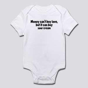 sour cream (money) Infant Bodysuit