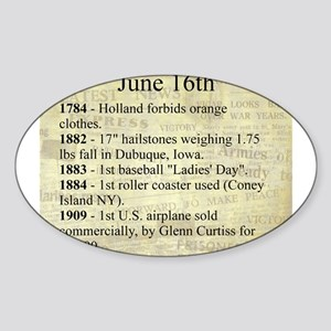 June 16th Sticker (Oval)