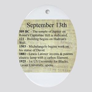 September 13th Ornament (Oval)