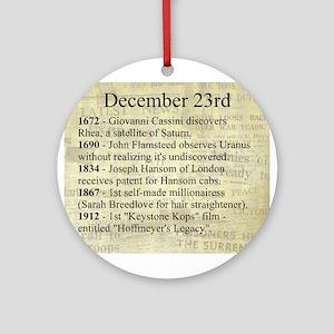 December 23rd Ornament (Round)