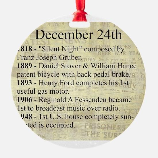 December 24th Ornament