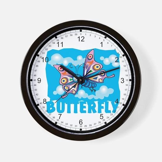 Kid Friendly Butterfly Wall Clock