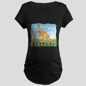 Kid Friendly Kangaroo Maternity Dark T-Shirt