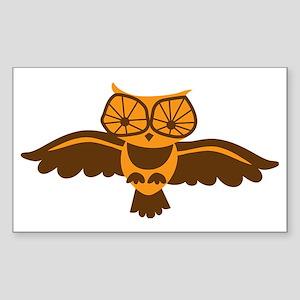 Cute flying hoot owl Sticker (Rectangle)
