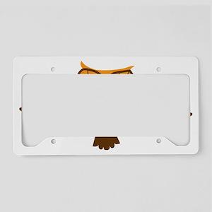 Cute flying hoot owl License Plate Holder