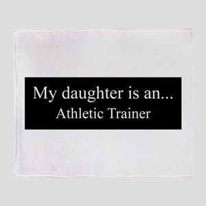 Daughter - Athletic Trainer Throw Blanket