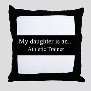 Daughter - Athletic Trainer Throw Pillow