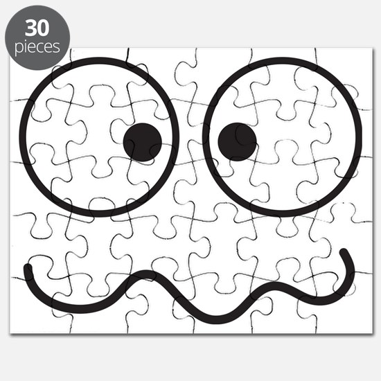 Crazy eyes face funny Puzzle