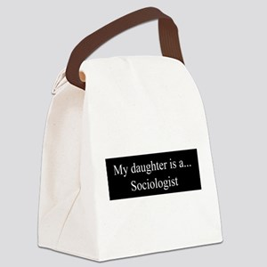 Daughter - Sociologist Canvas Lunch Bag