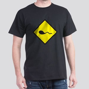 Black and Yellow sign with swimmer sp Dark T-Shirt