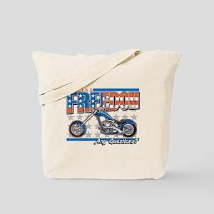 Define Freedom Motorcycle Tote Bag