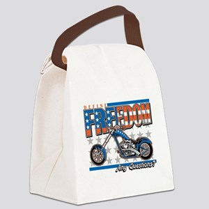 Define Freedom Motorcycle Canvas Lunch Bag