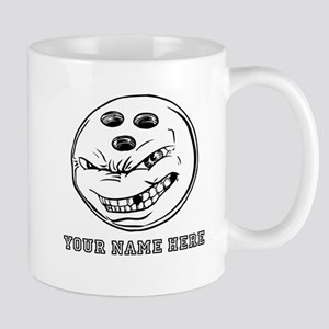 Custom Cartoon Bowling Ball Mugs