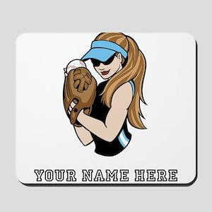 Custom Softball Pitcher Mousepad