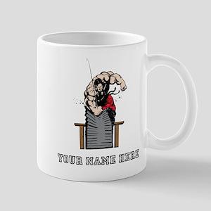 Custom Karate Brick Break Mugs
