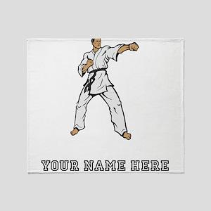 Custom Karate Black Belt Throw Blanket