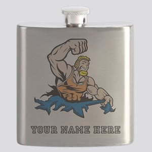 Custom Cartoon Wrestler Flask