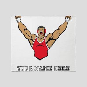 Custom Strong Wrestler Throw Blanket