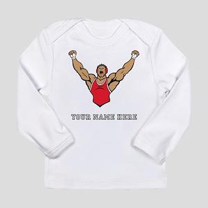 Custom Strong Wrestler Long Sleeve T-Shirt