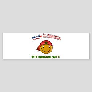 Moroccan American Bumper Sticker