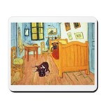Two boxers in Room at Arles Mousepad