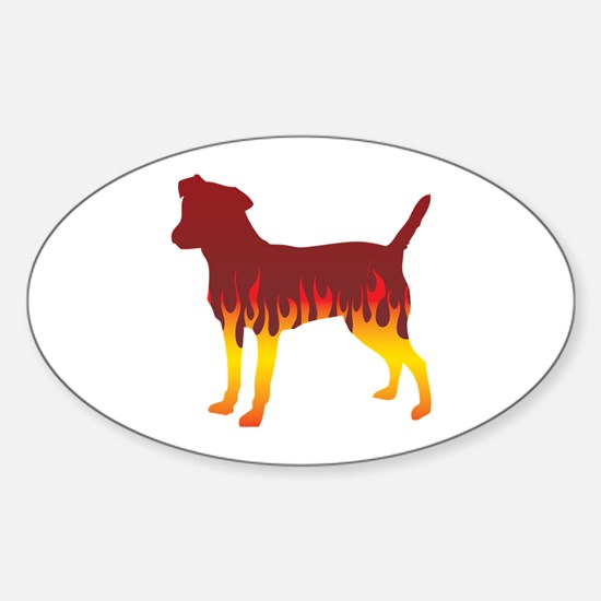 Patterdale Flames Oval Decal