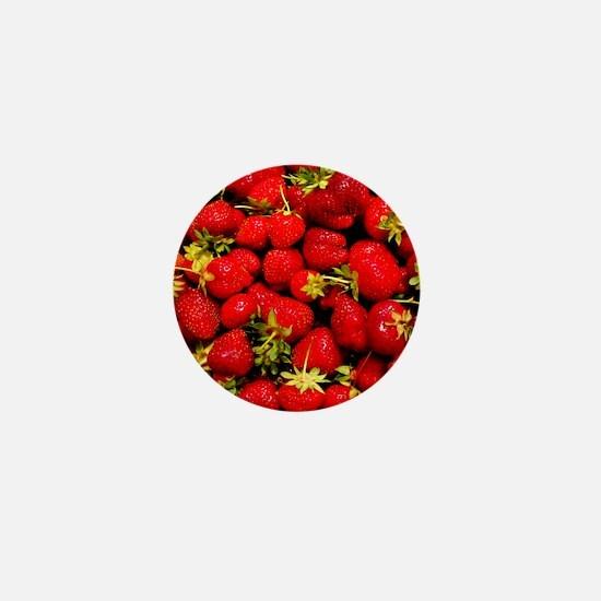 Strawberries Mini Button
