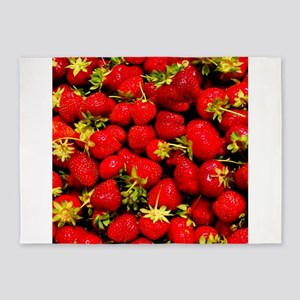Strawberries 5'x7'Area Rug