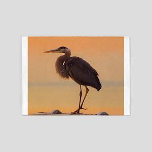 Evening Heron 5'x7'Area Rug