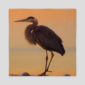 Evening Heron Queen Duvet