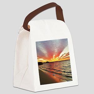 Sunset Streaks Canvas Lunch Bag