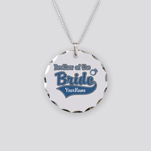 Brother of the Bride Necklace Circle Charm