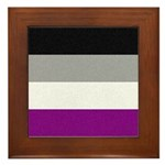 Asexual Pride Flag Framed Tile