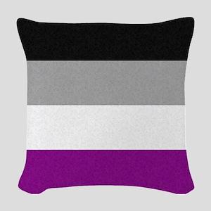 Asexual Pride Flag Woven Throw Pillow