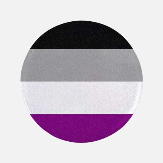 """Asexual Pride Flag 3.5"""" Button"""