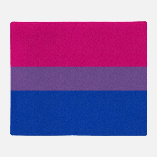 Bisexual Pride Flag Throw Blanket