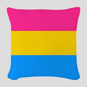 Pansexual Pride Flag Woven Throw Pillow