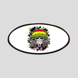 Jamaican Rasta Skull Patch