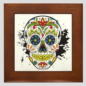Día de los Muertos Skull Framed Tile