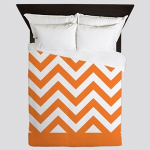 orange and white chevron pattern design Queen Duve