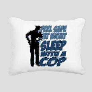 Feel Safe at Night, Slee Rectangular Canvas Pillow