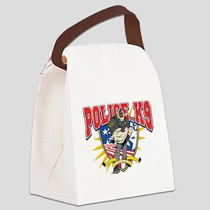 Police K9 Unit Canvas Lunch Bag