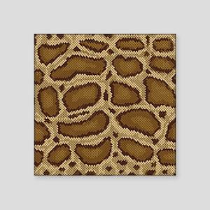 "Brown Python Square Sticker 3"" x 3"""