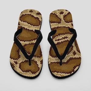 Brown Python Flip Flops