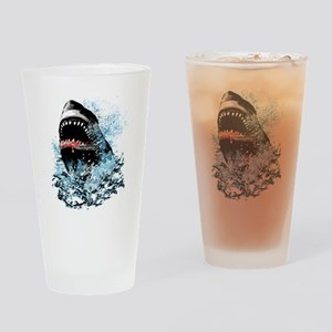 Awesome Shark Art! Drinking Glass